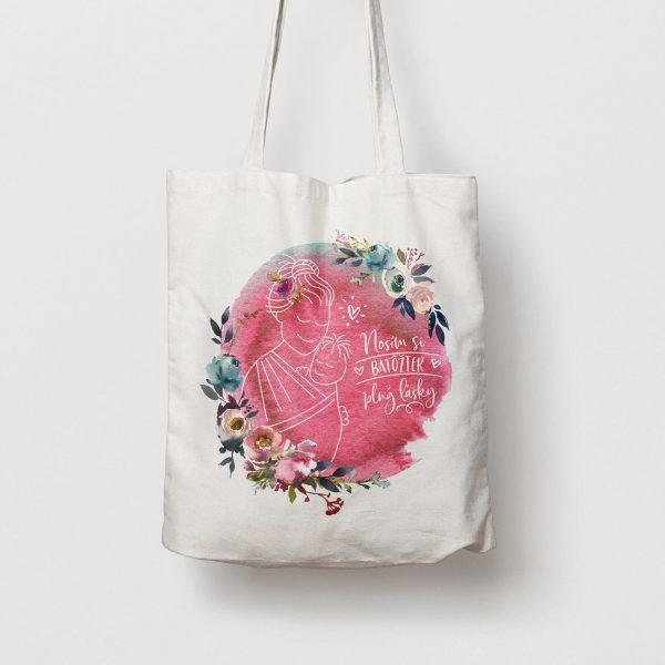 Batôžtek plný lásky | plátená taška