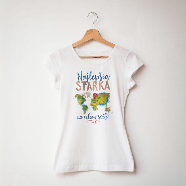 Najlepšia starká na celom svete | dámske tričko